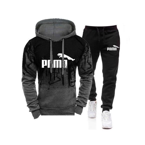 New Men's Hooded Sweater Suit Sportswear Pullover Casual Hoodie + Sweatpants Jogging Men's Pullover 3XL Sports Suit Men