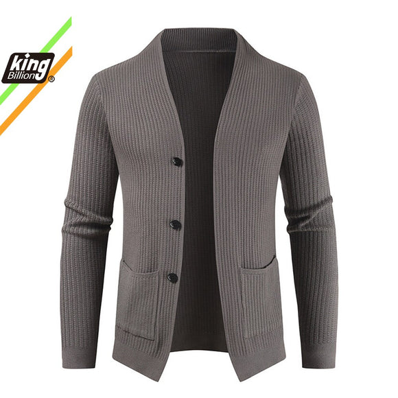 Autumn and Winter New Men's Cardigan Single-Breasted Fashion Knit  Plus Size Sweater
