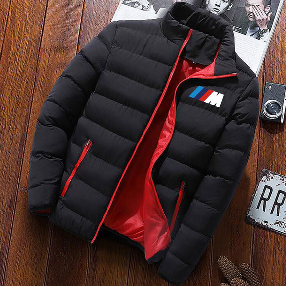 Winter men's jacket Parka Men's Brand Clothing BMW zipper Winter warm jacket Slim men's cotton jacket men's Casual Jacket