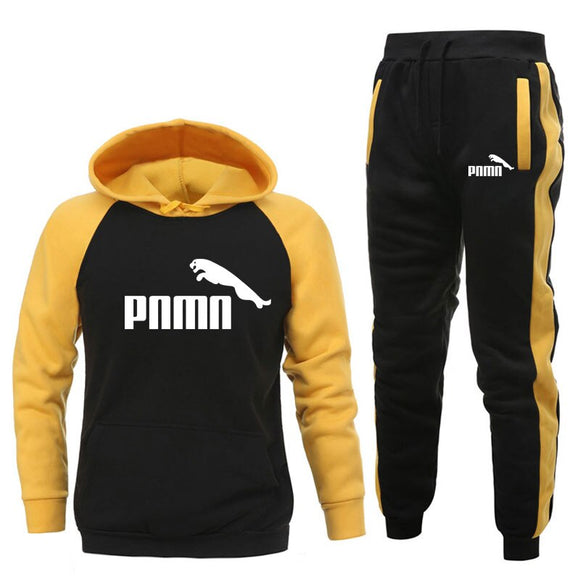 New Brand PNMN Men Clothing Sets Tracksuit 2 Piece Sets Hoodies+Pants Men's Sweater Set Sports Suit Streetswear Jackets