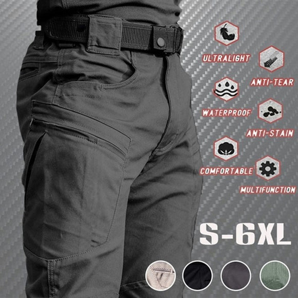 Men Casual Cargo Pants Outdoor Hiking Trekking Army Tactical Sweatpants Camouflage Military Multi Pocket Trousers Plus Size