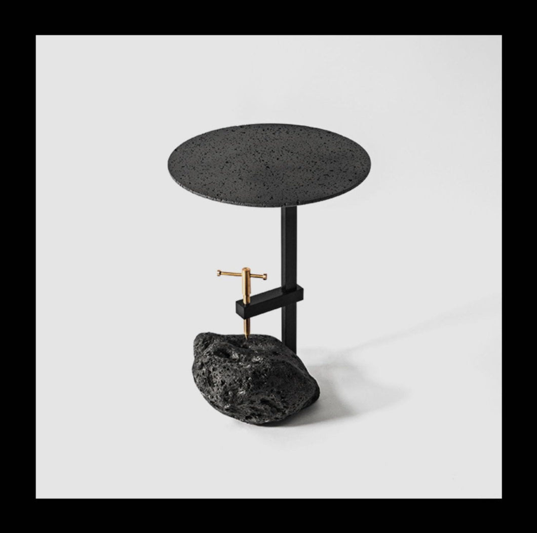Lava Stone End Table
