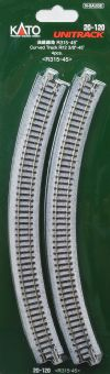 Kato 20-120 Ground Level Radius 315mm Curved Track 45 Deg.(4) - N Gauge