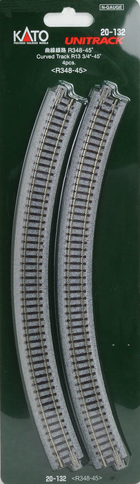 Kato 20-132 Ground Level Radius 348mm Curved Track 45 Deg.(4) - N Gauge