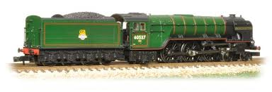Graham Farish 372-387 Class A2 60527 Sun Chariot BR Lined Green Late Crest - N Scale