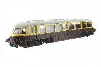 Dapol 4D-011-006 Streamlined Railcar Number 10 Lined Choc & Cream - GWR Monogram - OO Gauge