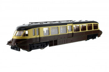 Dapol 4D-011-007 Streamlined Railcar BR Number W11 Lined Choc & Cream - OO Gauge