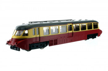 Dapol 4D-011-008 Streamlined Railcar BR Number W8 Lined Carmine and Cream - OO Gauge