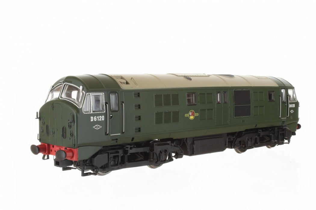 Dapol 4D-025-002 Class 21 D6120 BR Green Livery with Headcode Discs - OO Gauge