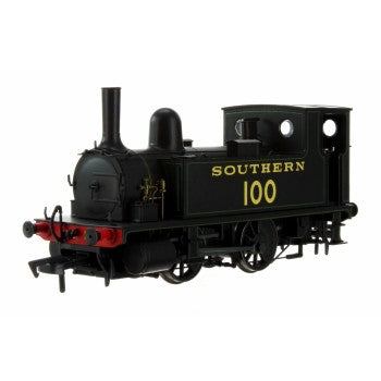 Dapol 4S-018-008 B4 Class Locomotive  0-4-0T Number 100 Southern Black with green lining - OO Gauge