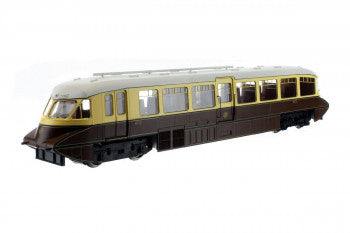 Dapol 4D-011-005 Streamlined Railcar Number 12 Lined Choc & Cream - GWR Monogram and Valance - OO Gauge