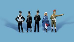 Model Scene 5123 Public Services Persons Figure Set - OO / HO Scale