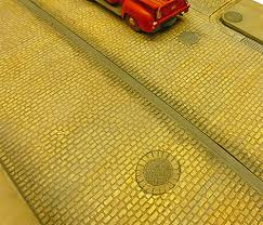 Chooch 8655 Small Cobblestone Street Details (Self Adhesive) - OO Scale