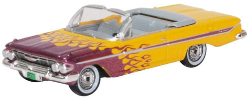 Oxford Diecast 87CI61004 Chevrolet Impala Convertible 1961 Hot Rod