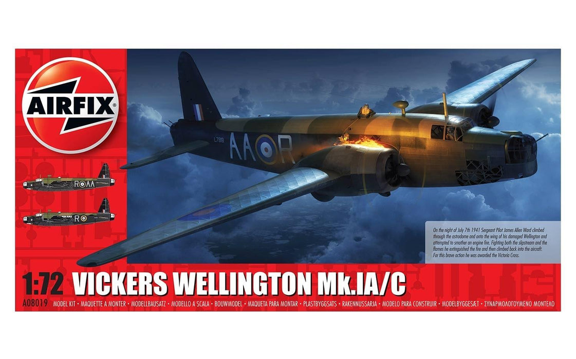 Airfix A08019 Vickers Wellington Mk1A/C Plastic Kit (1:72 Scale)