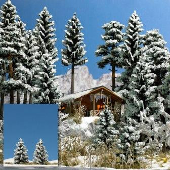 Busch 6151 Snow Covered Spruce (2) - OO / HO Scale