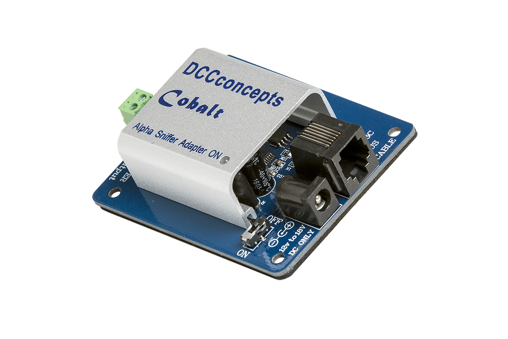 DCC Concepts DCD-SNX Cobalt Alpha DCC Power Bus Driver and SNIFFER Adapter
