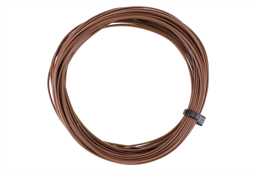 DCC Concepts DCW-BBT 32 Gauge Twinned Decoder Wire (6 metres) - Brown / Brown
