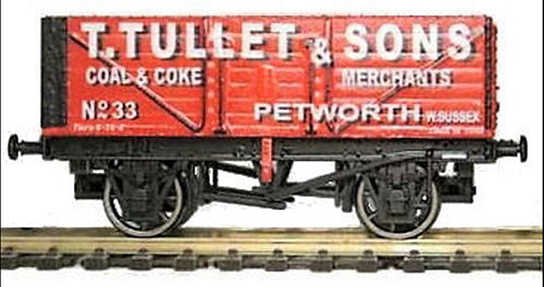 Gaugemaster GM4410203 7 Plank Wagon T Tullet & Sons - OO Scale