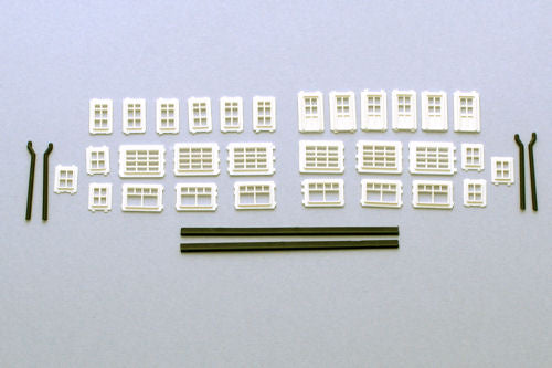 Gaugemaster / Kestrel GMKD15 Windows Doors & Guttering - N Scale