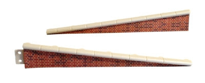 Peco LK-66 Platform Ramps (2) with Brick Edging - OO / HO Scale