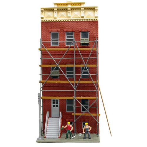 Model Power 203 Action Renovating Building Kit (US Style) - OO / HO Scale