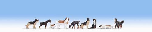 Noch 15717 Dogs - Set 1 - 9 per pack - OO /HO Scale