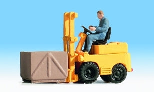 Noch 16770 Fork Lift Truck with Figure (OO / HO Scale)