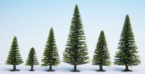 Noch 26825 Spruce Hobby Trees (25 per Pack) 5cm - 14cm Height - OO / HO Scale