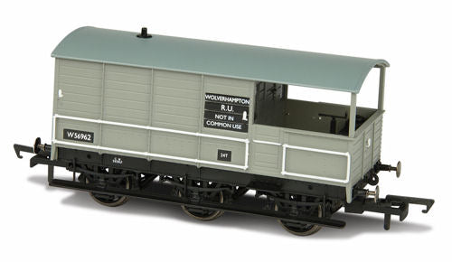 Oxford Rail OR76TOA004 Toad Brake Van BR 6 Wheel Plated Wolverhampton 56962 - OO Gauge