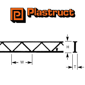 Plastruct OWTS-6 Truss (2pcs each 4.8mm x 6.2mm x 150mm) - Suitable for all Scales (90652)
