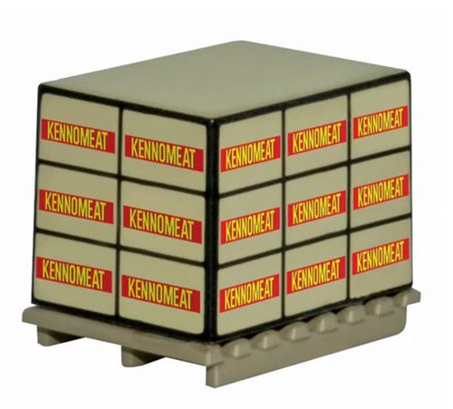 "Oxford Diecast 76ACC012 Pallet Loads ""Kennomeat"" (4 Pallets per Pack) - 1:76 Scale (OO)"