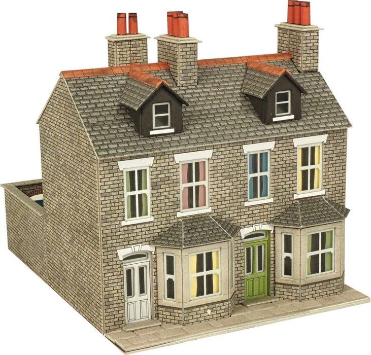 Metcalfe PO262 Terraced Houses Stone Card Kit  - OO / HO Scale