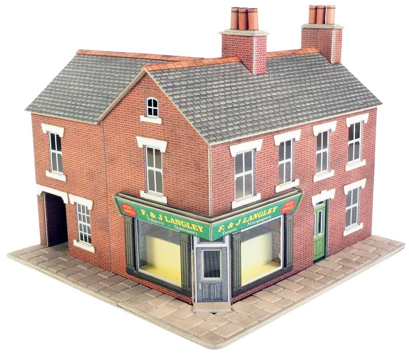 Metcalfe PO263 Red Brick Corner Shop Card Kit - OO / HO Scale
