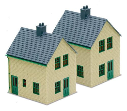Peco LK-15 Station Houses Kit - Stone  -  OO Scale