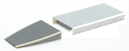 Peco ST-297 Platform Ramp (2 Sections) - Stone Edging - OO Scale