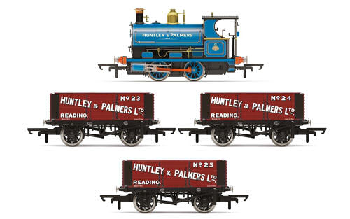 Hornby R3686 Huntley & Palmers Peckett W4 Works Train Pack - OO Scale