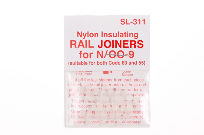 Peco SL-311 Nylon Insulating Rail Joiners (12) -  N / OO9 Gauge