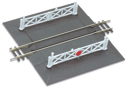 Peco ST-268 Setrack Straight Level Crossing with Gates - OO / HO