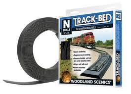 Woodland Scenics ST1475 N Gauge Track Bed 24ft