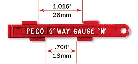 Peco SL-336 Permanent Way Gauge - N Gauge