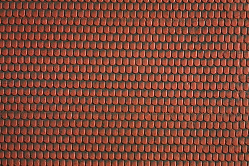 Noch 57328 3D Roofing Tile Textured Sheet - Red (30cm x 12cm) HO /  1:87 Scale