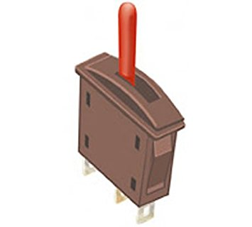 Peco PL-26R Point Switch Red (Passing Contact for contact switches)