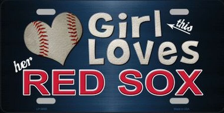 This Girl Loves Her Red Sox Fans Souvenir License Plate