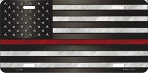 Thin Red Line License Plate