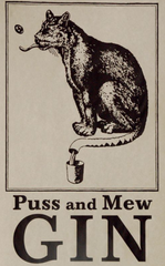 Puss & Mew GIN sign
