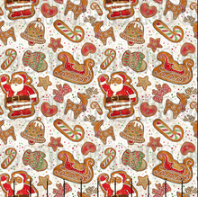 Load image into Gallery viewer, Gingerbread Santa Cotton Lycra (Retail)