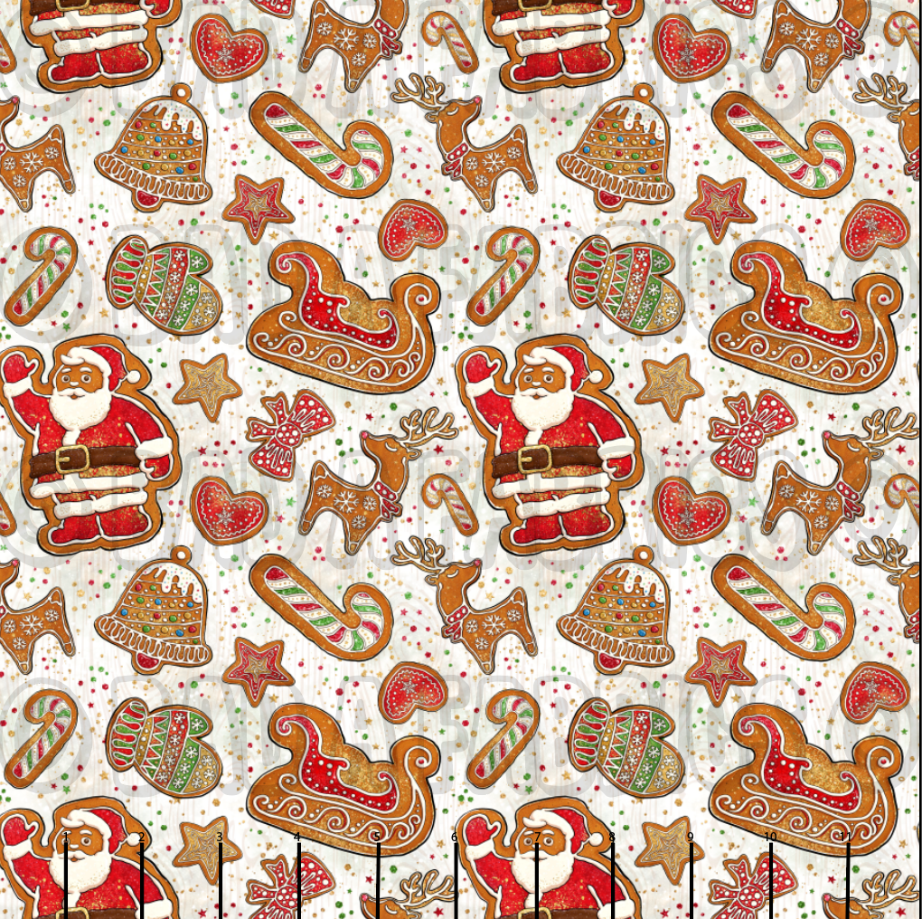 Gingerbread Santa Cotton Lycra (Retail)