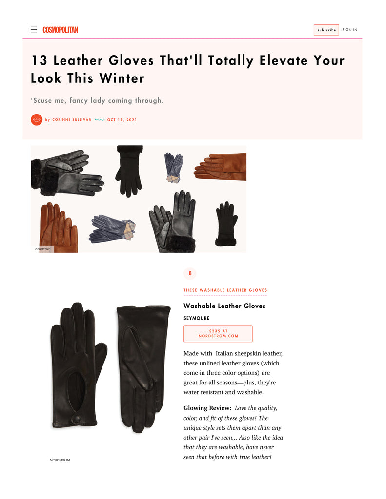 Cosmo's 13 Leather Gloves That'll Totally Elevate Your Look This Winter