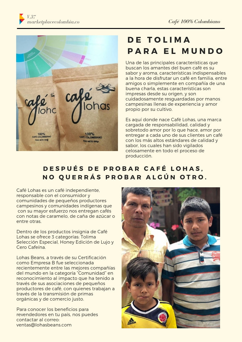lohas beans marketplacecolombia colombiancoffee